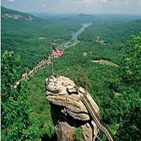Chimney Rock Park Sightseeing in North carolina
